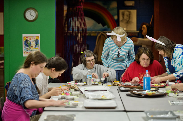 MDN photo of Artshop students making candy.
