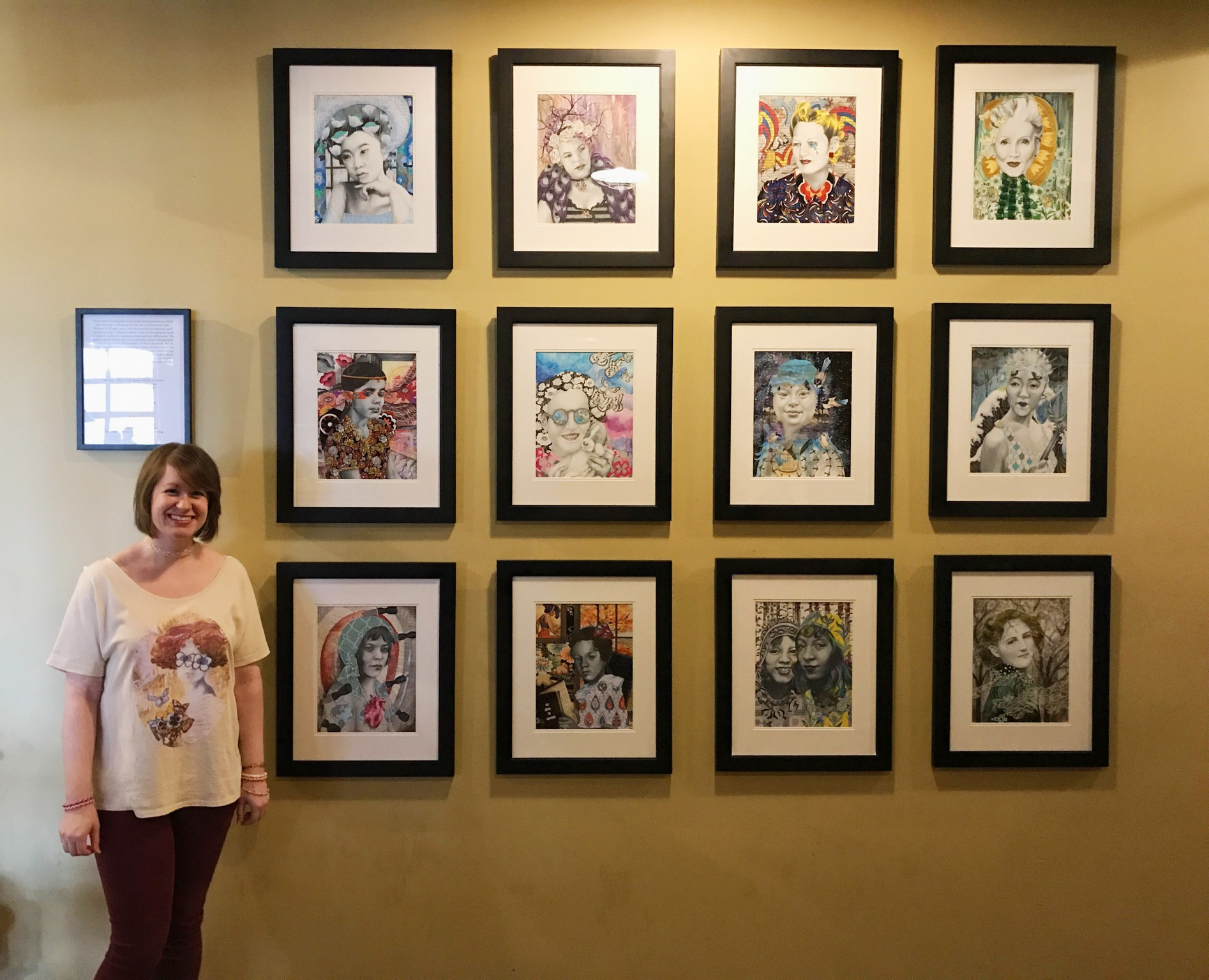 Allise Noble with her ArtPrize exhibit